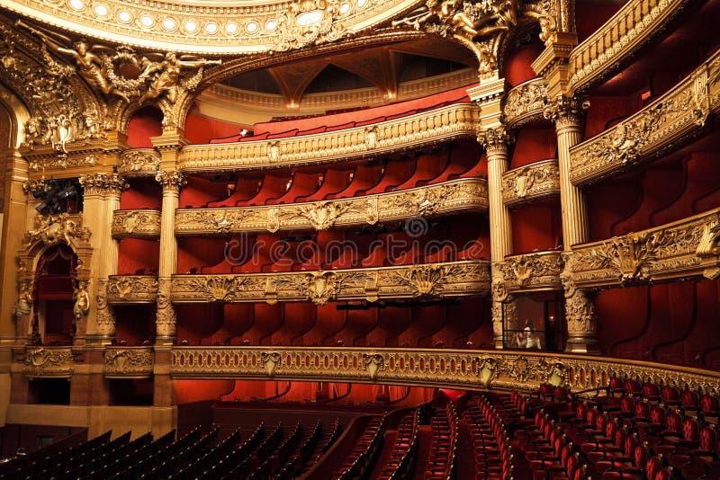 L'opera o il palazzo Garnier. Parigi, Francia. immagini stock libere da diritti