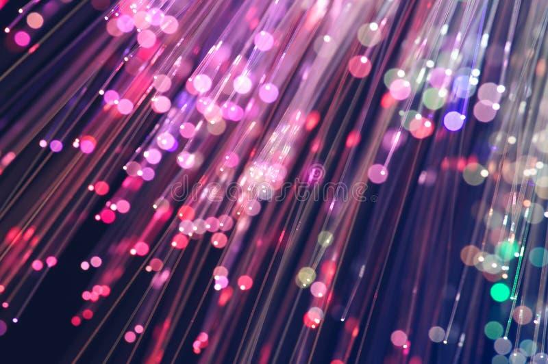 L'optique des fibres allume le résumé pour le fond image stock