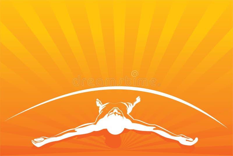 L'orange détendent des hommes illustration de vecteur