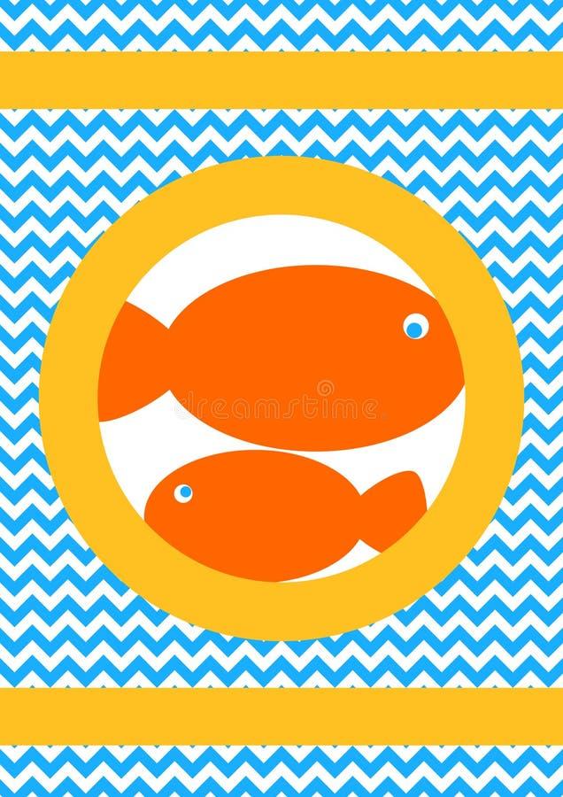 L'orange pêche la carte de voeux illustration stock