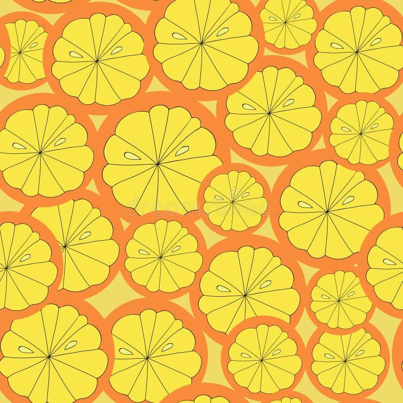 L'orange porte des fruits mod?le sans couture photos stock