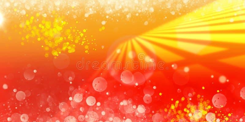 L'orange rouge horizontale rayonne la BG abstraite illustration libre de droits