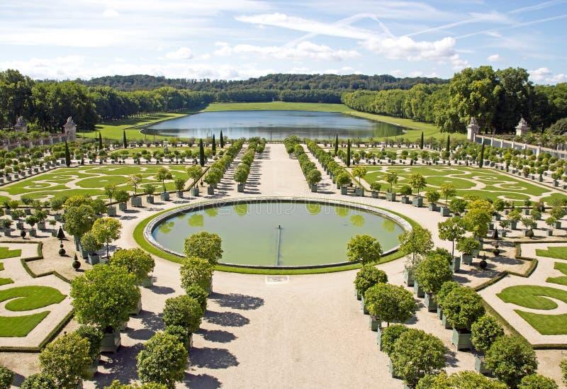 L'orangerie, Versailles dans des Frances de Versailles d'été photographie stock libre de droits