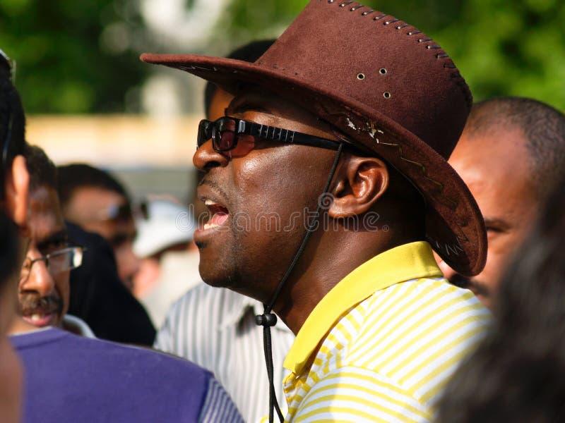 L'orateur met son point de vue. images libres de droits
