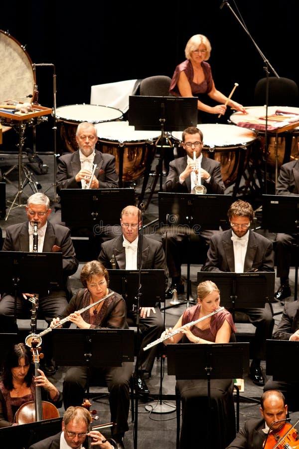 L'orchestra sinfonica di Savaria effettua immagini stock libere da diritti