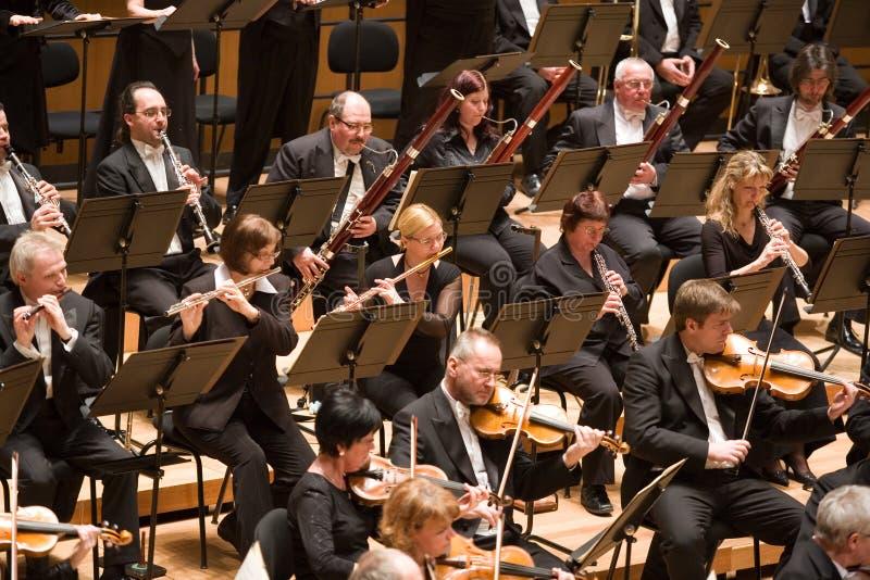 L'orchestre philharmonique de Brno exécutent images libres de droits