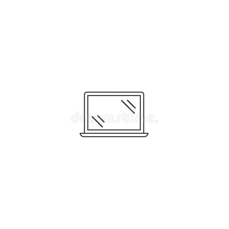 L'ordinateur nomade de vecteur d'icône d'ordinateur portable a isolé 7 illustration stock