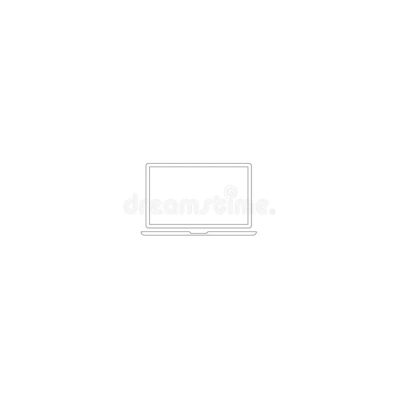 L'ordinateur nomade de vecteur d'icône d'ordinateur portable a isolé 1 illustration stock