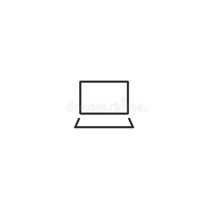 L'ordinateur nomade de vecteur d'icône d'ordinateur portable a isolé 8 illustration stock