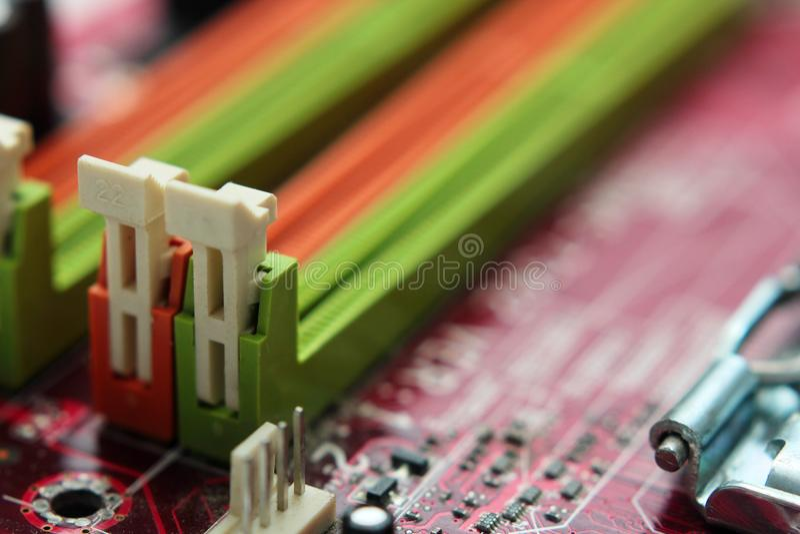 L'ordinateur partie le fond abstrait en gros plan Foyer sélectif photographie stock libre de droits