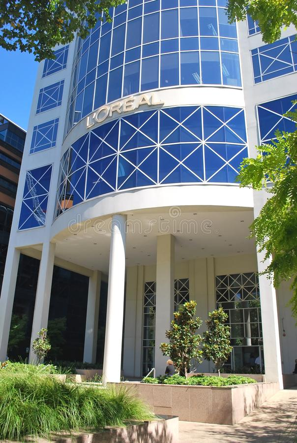L ` Oreal Paryż kwatery główne w Melbourne obrazy stock