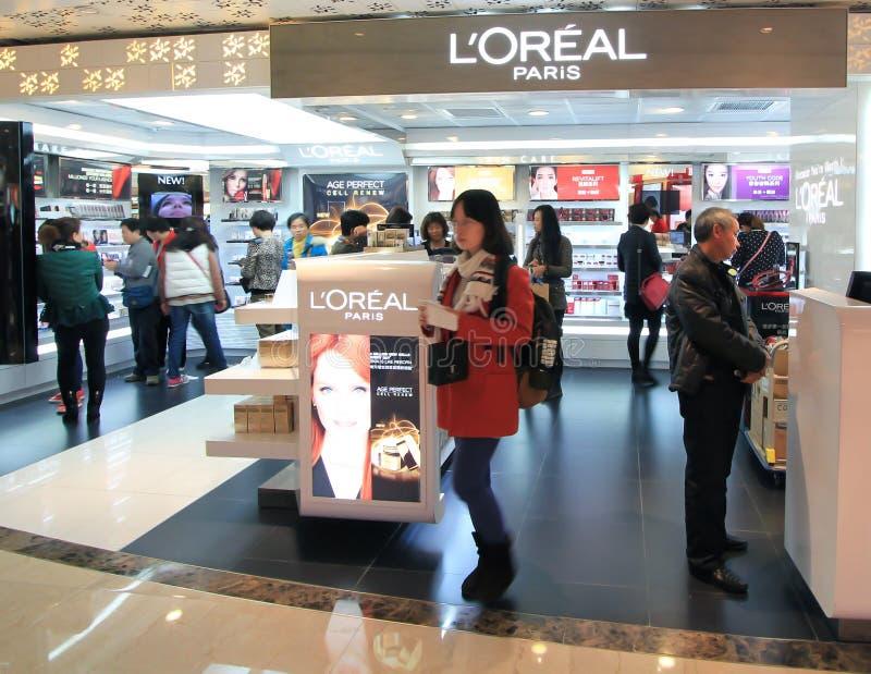 L oreal shop in Hong Kong stock images