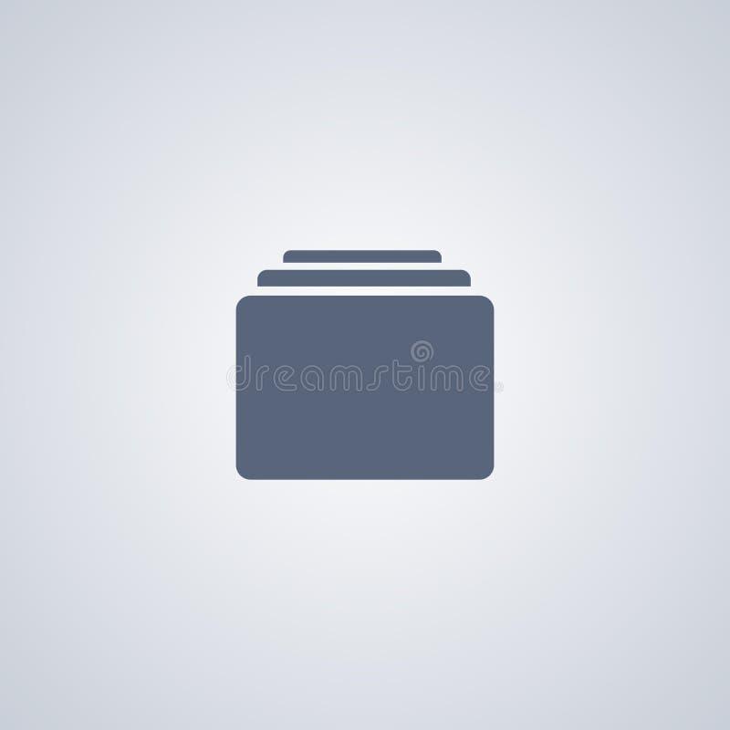 L'organisateur, archives, dirigent la meilleure icône plate illustration de vecteur