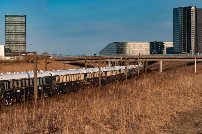 L'Orient Express in Danimarca fotografia stock