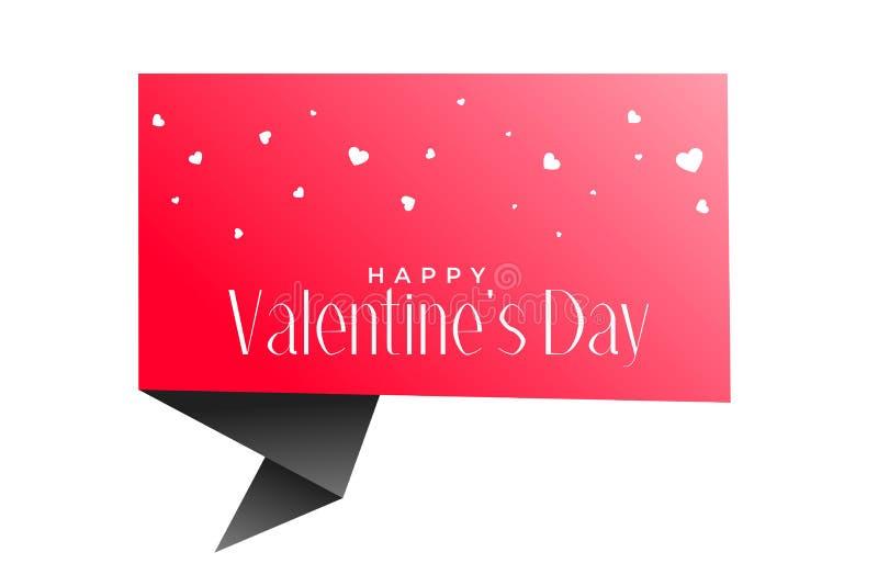 L'origami de jour de valentines cause la bulle et le fond de coeurs illustration libre de droits