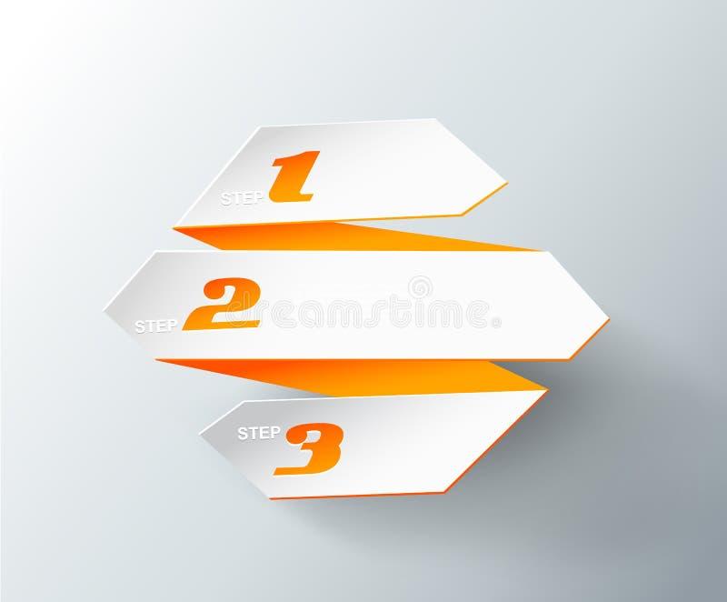 L'origami empaquette avec l'endroit pour votre propre texte. illustration stock