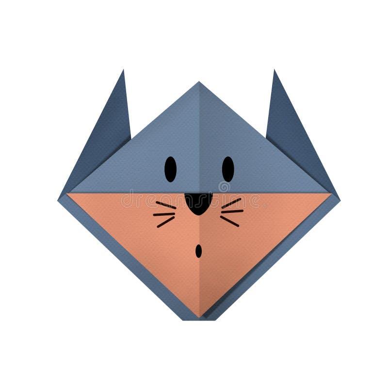 L'origami empaquette un rat (le visage) photos libres de droits
