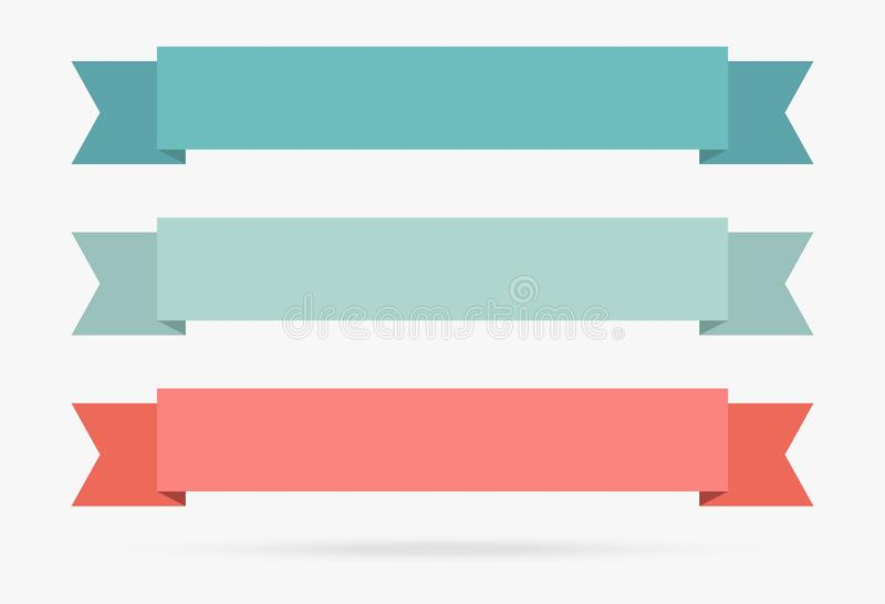 L'origami populaire de bannière de couleur en pastel de ruban de label empaquette le vintage i illustration libre de droits