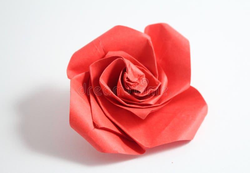 L'origami s'est levé image stock