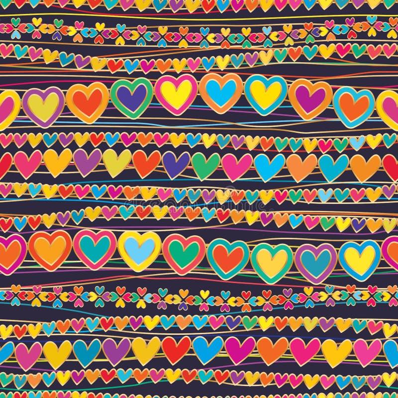 L'orizzontale di amore collega la linea modello senza cuciture di stile royalty illustrazione gratis