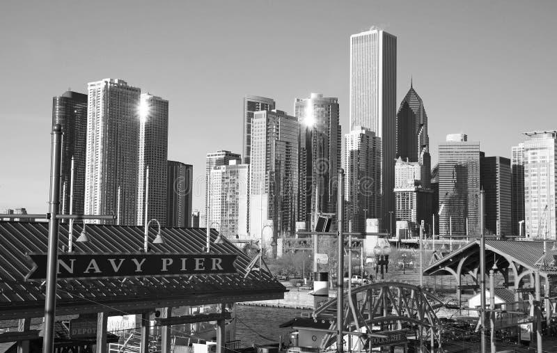 L'orizzonte del Chicago fotografia stock