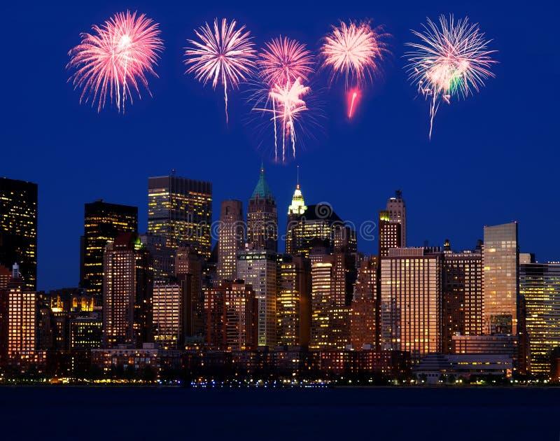 L'orizzonte del Lower Manhattan immagini stock libere da diritti