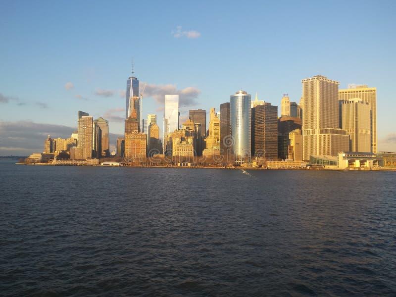L'orizzonte del Lower Manhattan fotografia stock