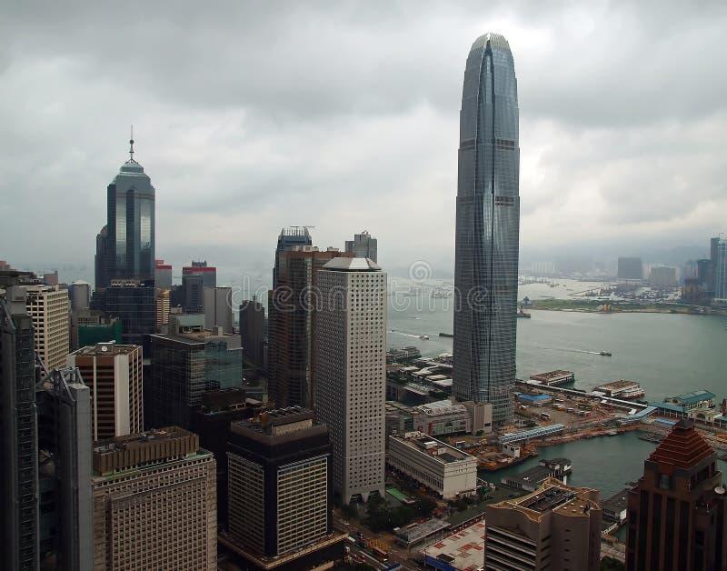 L'orizzonte di Hong Kong del centro fotografia stock libera da diritti