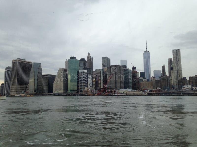 L'orizzonte di New York City fotografia stock