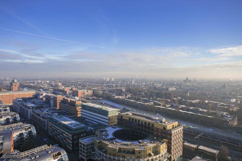L'orizzonte olandese della città da sopra fotografia stock libera da diritti