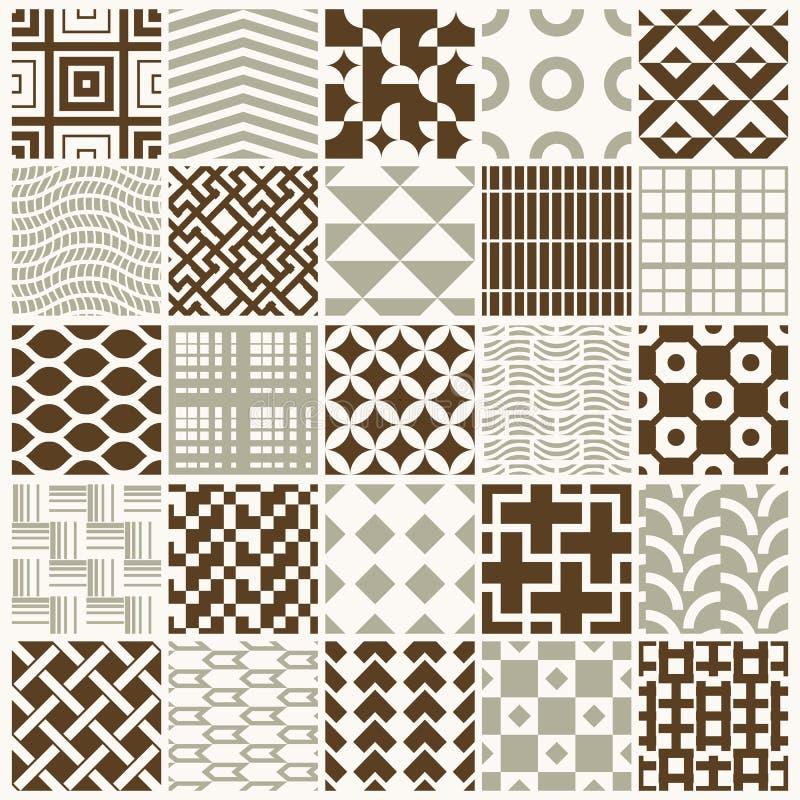 L'ornamental graphique couvre de tuiles la collection, ensemble de patt répété illustration stock