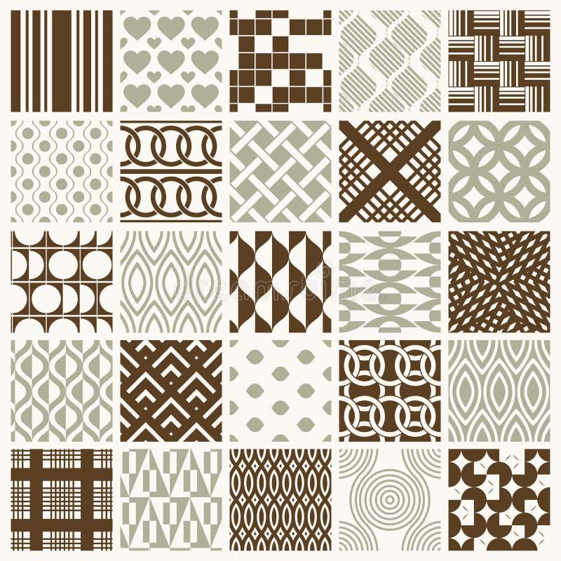 L'ornamentale grafico piastrella la raccolta, insieme di patt ripetuto vettore illustrazione vettoriale