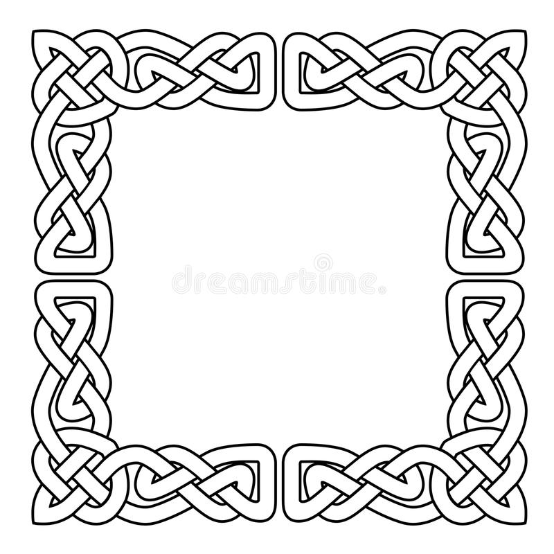 L'ornement sans couture national celtique a entrelacé la bande - cadre illustration de vecteur