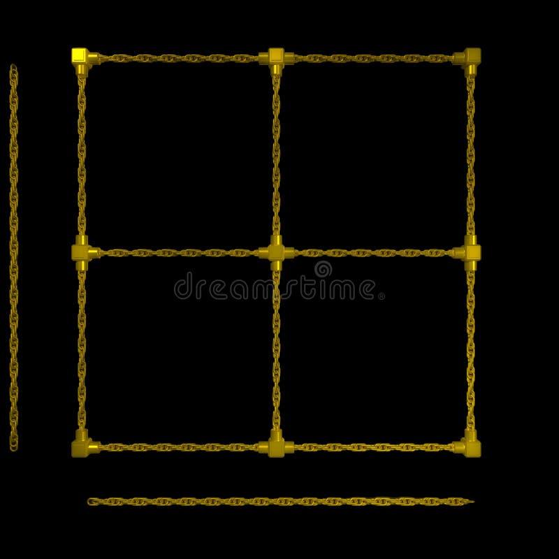 L'oro concatena il blocco per grafici illustrazione vettoriale