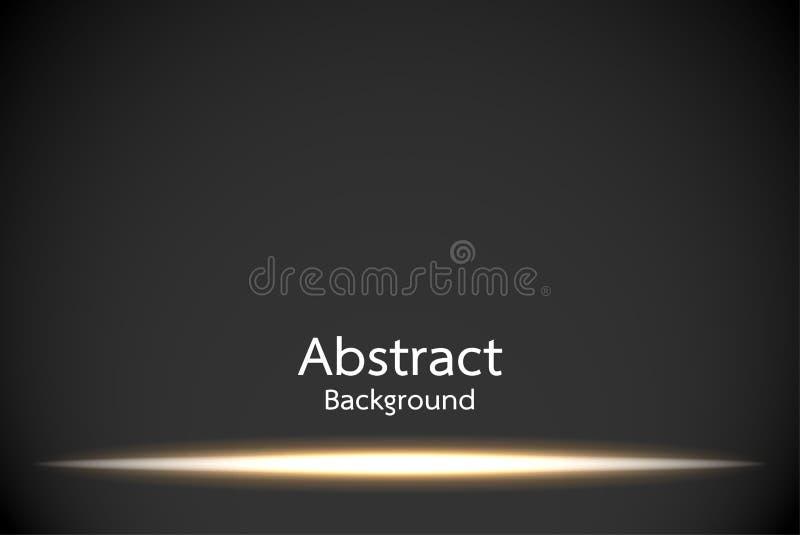 L'oro emette luce effetto della luce illustrazione vettoriale