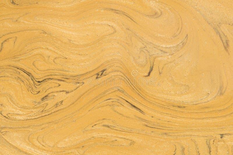 L'oro ha dipinto il fondo di marmo di struttura immagini stock