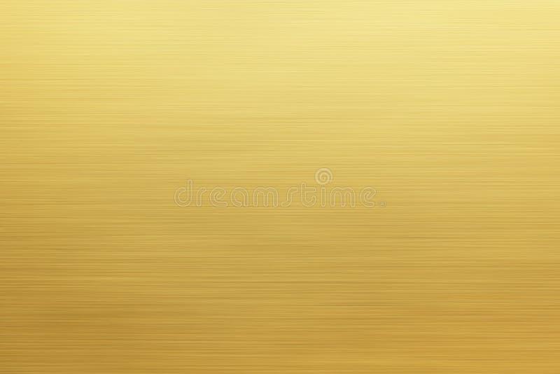L'oro ha spazzolato la struttura del metallo o il fondo inossidabile del piatto royalty illustrazione gratis