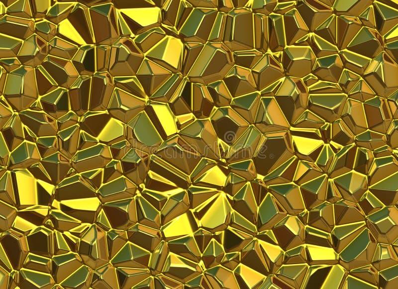 L'oro lapida gli ambiti di provenienza brillanti di orografia royalty illustrazione gratis