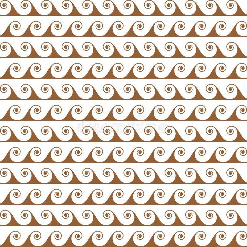 L'oro ondeggia le linee modello senza cuciture del Greco di vettore illustrazione di stock