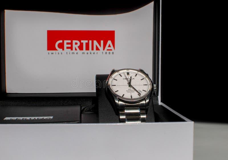 L'orologio automatico del DS1 di Certina immagine stock