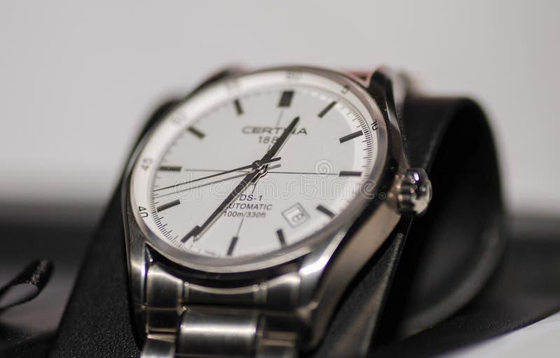 L'orologio automatico del DS1 di Certina fotografia stock libera da diritti