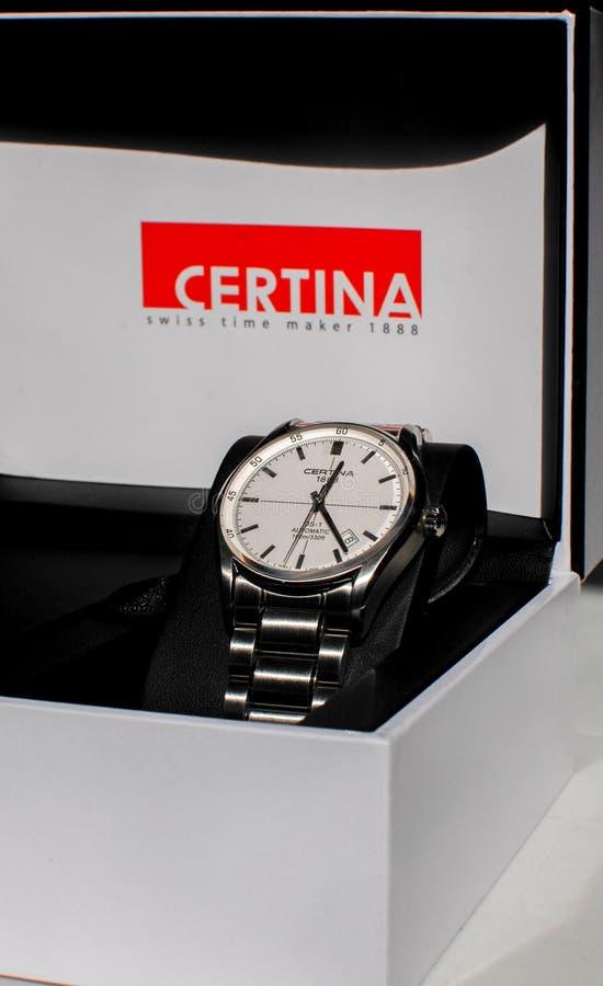L'orologio automatico del DS1 di Certina fotografia stock