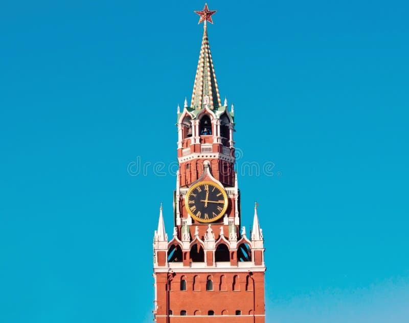 L'orologio chiming di Mosca fotografie stock libere da diritti