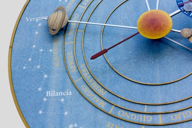 L'orologio dei pianeti fotografia stock libera da diritti