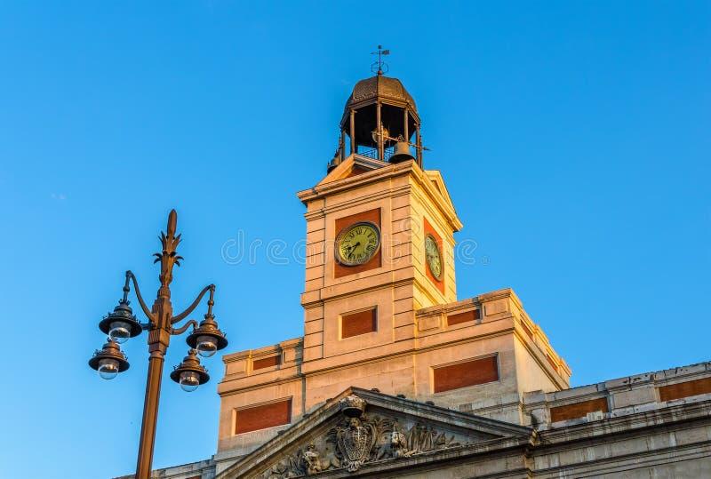 L'orologio del Real Casa de Correos fotografia stock libera da diritti