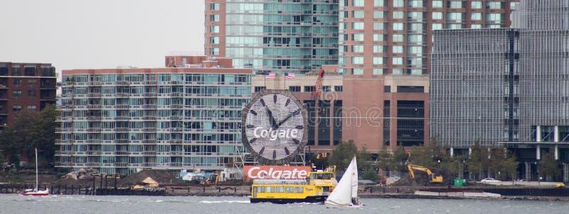 L'orologio di Colgate, a Jersey City, il New Jersey fotografia stock libera da diritti