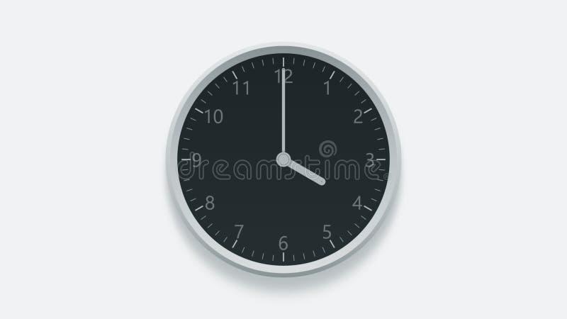L'orologio di parete dell'ufficio visualizza 4 in punto rappresentazione 3d illustrazione vettoriale