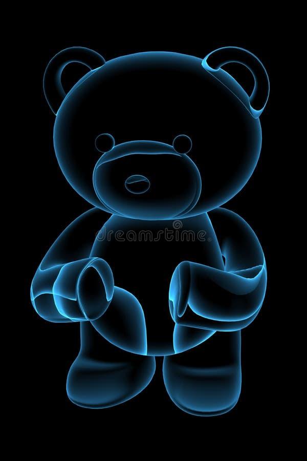L'orso 3D dell'orsacchiotto ha reso l'azzurro illustrazione di stock