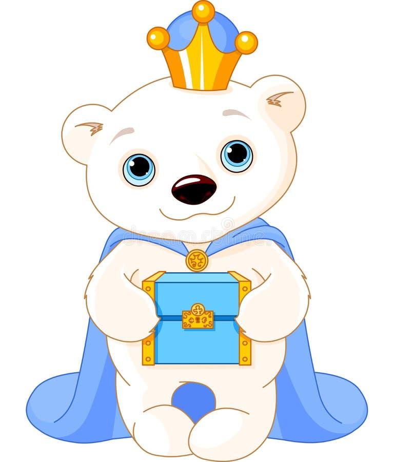 L'orso polare come Re Magi biblico royalty illustrazione gratis