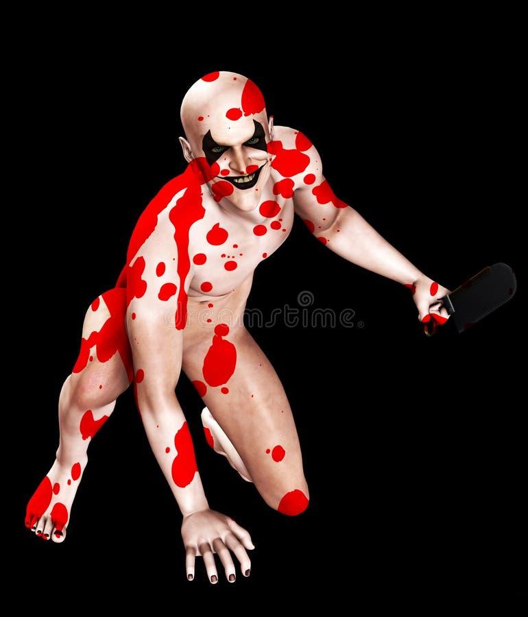 L'os sanglant a vu le clown photographie stock